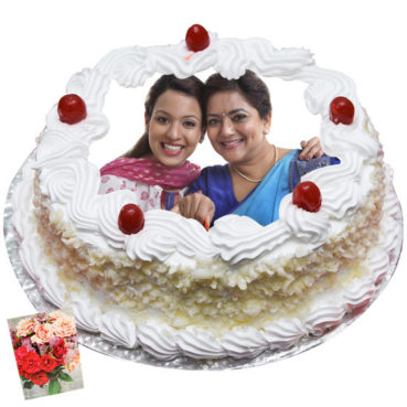 White Forest Photo Cake in Rourkela